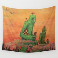 robert downey jr Wall Tapestries featuring Dinosaur Jr. - Farm by NICEALB