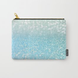 Mermaid Sea Foam Ocean Ombre Glitter Carry-All Pouch