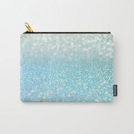 Mermaid Sea Foam Ocean Ombre Glitter Carry-All Pouch