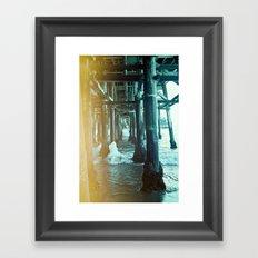 Under the Pier.  Framed Art Print