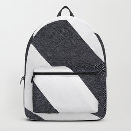 White & Black Stripes Backpack