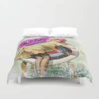 butt Duvet Covers featuring Lucky Butt by melted
