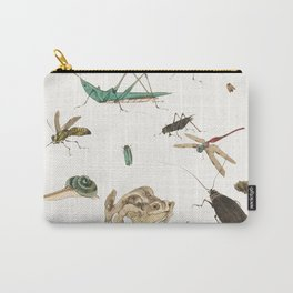 Insects, frogs and a snail Carry-All Pouch