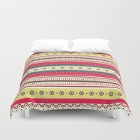 stripes Duvet Covers featuring stripes by ValoValo