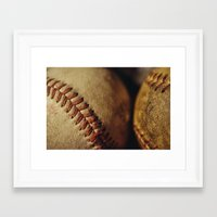 baseball Framed Art Prints featuring Baseball by Chee Sim