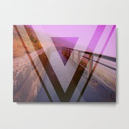 Purple Fog Metal Print