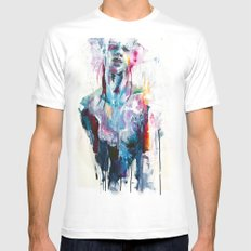 nothing is enough MEDIUM Mens Fitted Tee White