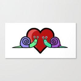 Snail Couple Canvas Print