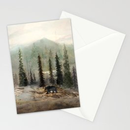 Mountain Black Bear Stationery Cards