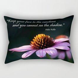 Facing the Sunshine Rectangular Pillow