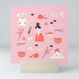 Dreaming of Japan Pattern Mini Art Print