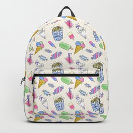 Popart candy and ice-cream Backpack