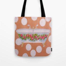 Circles and Suds Bathroom Art Tote Bag