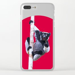 Indri indri sitting in the tree Clear iPhone Case