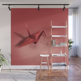 Crane meets a Crane. Wall Mural
