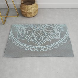 Grey Blue Mandala Rug