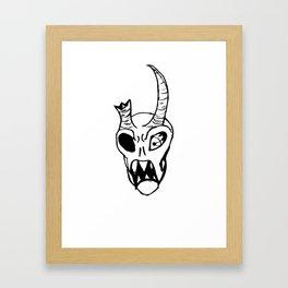 Devilman Head Framed Art Print