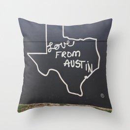 Love From Austin Throw Pillow