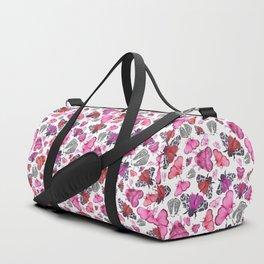 Pink Love of Moths and Butterflies Duffle Bag