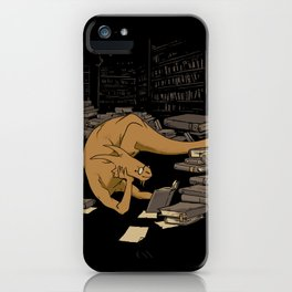 The Book Wyrm iPhone Case