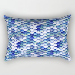 Mermaid Tale Pattern Rectangular Pillow