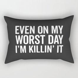 Worst Day Killin' It Gym Quote Rectangular Pillow