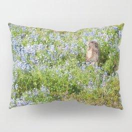 Marmot and wild flowers at Mount Rainier Pillow Sham