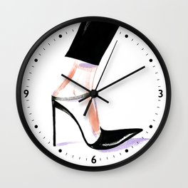 fashion #15. high-heeled shoes Wall Clock