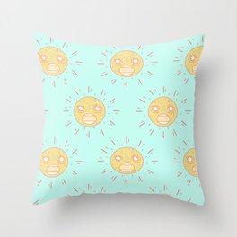 Upset Suns Throw Pillow