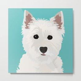 Westie Terrier Metal Print