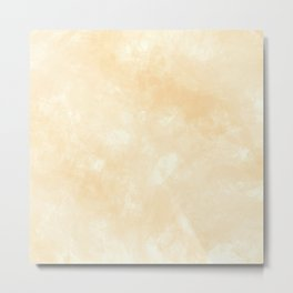 Smooth Beige Marmol Stone Metal Print
