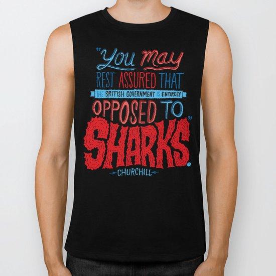 Opposed to Sharks Biker Tank