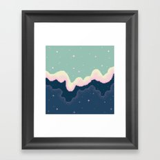 Pixel Day and Night Galaxy Framed Art Print