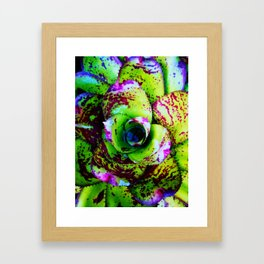 Rusted Succulent Framed Art Print