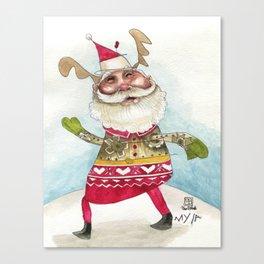 Steampunk Santa Canvas Print