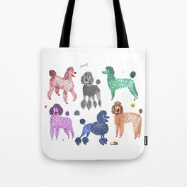 Poodles by Veronique de Jong Tote Bag