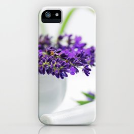 Lavender still life for pharmacies or curative practitioners iPhone Case