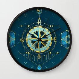 Decorative Sacred Geometry Compass Wall Clock