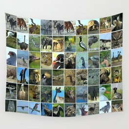 Animals of the world Wall Tapestry