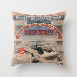 Vintage poster - Orient Express Throw Pillow