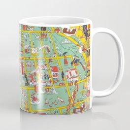 CHICAGO University map ILLINOIS  dorm Coffee Mug