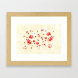 Flying flowers Framed Art Print