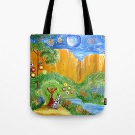 Magic Wolf & Raven Tote Bag
