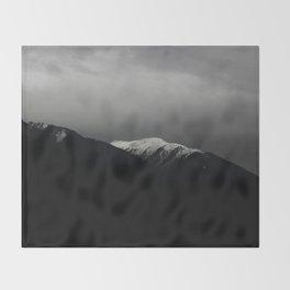Don't stop / mountain photo art print / mountain poster Throw Blanket