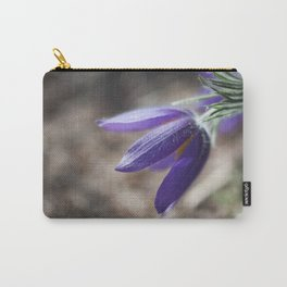 Purple Pasque Flower Carry-All Pouch