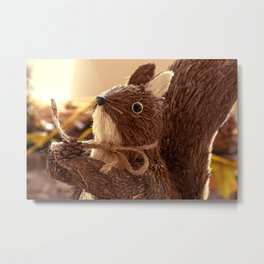 Penita and the pinecone Metal Print