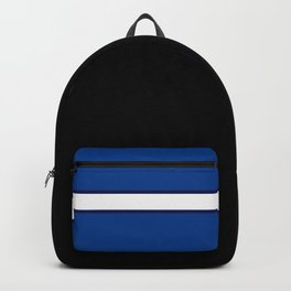 TEAM COLORS 1…Black, navy and white team  colors Backpack