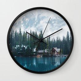 Emerald Lake Lodge II Wall Clock
