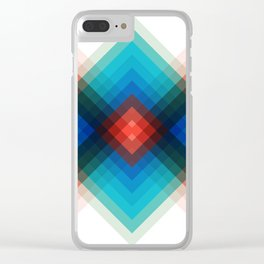 Colorful bands V Clear iPhone Case