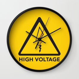 High Voltage Wall Clock